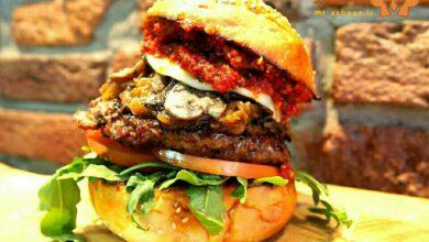 تصویر طرز تهیه ساندویچ رویال برگر