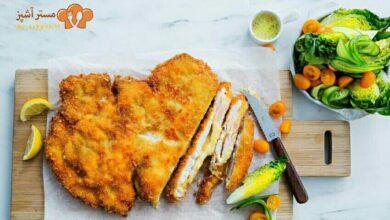 تصویر طرز تهیه شنیسل ماهی