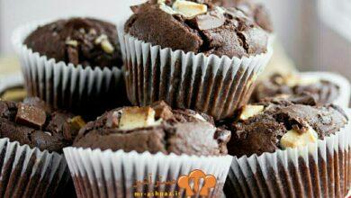 تصویر طرز تهیه شیرینی مافین شکلاتی
