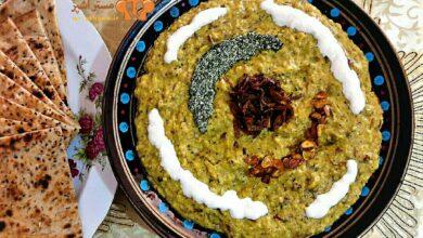 تصویر طرز تهیه حلیم بادمجان سنتی