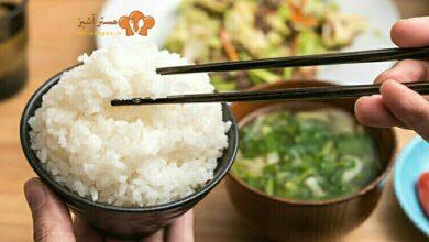 تصویر طرز تهیه برنج سوشی