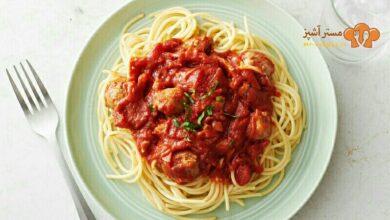 تصویر طرز تهیه اسپاگتی ایتالیایی