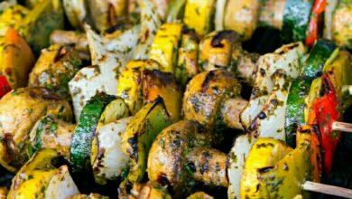 تصویر طرز تهیه کباب سبزیجات