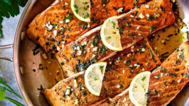 تصویر طرز تهیه ماهی سالمون