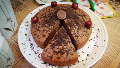 تصویر طرز تهیه کیک شیر شکلاتی