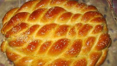 تصویر طرز تهیه نان شیر مال