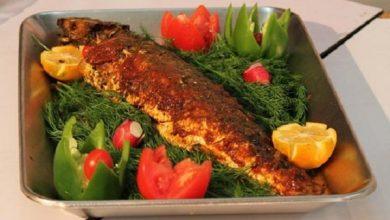 تصویر طرز تهیه ماهی شکم پر