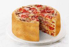 تصویر طرز تهیه کیک پیتزا