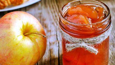 تصویر طرز تهیه مربا سیب خانگی با سیب زرد و سیب گلاب