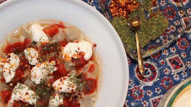 تصویر طرز تهیه مانتی خوشمزه و خانگی ترکیه ای