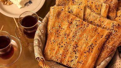 تصویر طرز تهیه نان بربری خانگی