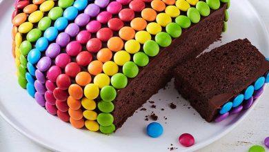 تصویر طرز تهیه کیک شکلاتی با اسمارتیز