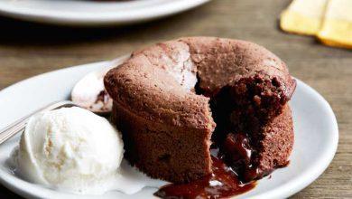 تصویر طرز تهیه لاوا کیک شکلاتی