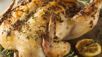 تصویر طرز تهیه خوراک مرغ عسلی در فر