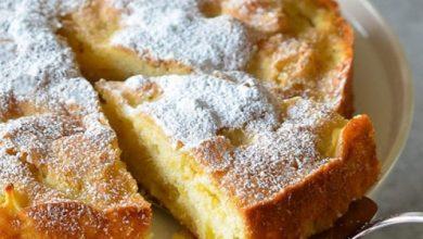 تصویر طرز تهیه کیک سیب خانگی