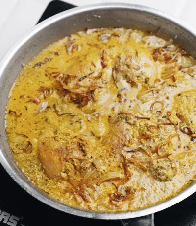 طرز تهیه خورش مرغ افغانستانی