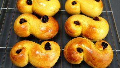 تصویر طرز تهیه نان زعفرانی