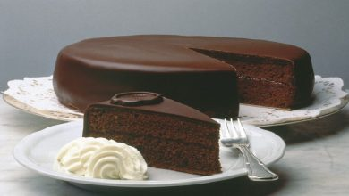 تصویر طرز تهیه کیک ساچر شکلاتی