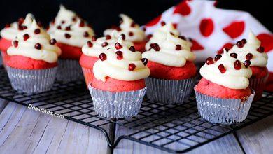 تصویر طرز تهیه کاپ کیک انار