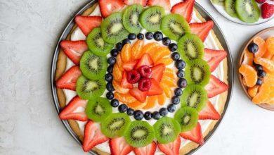 تصویر طرز تهیه پیتزای شیرین میوهای