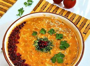 تصویر طرز تهیه سوپ جو قرمز