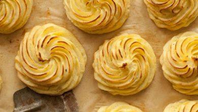 تصویر طرز تهیه کاپ سیب زمینی پنیری