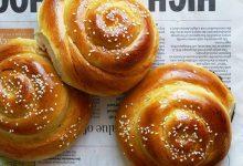 تصویر طرز تهیه نان مخصوص صبحانه