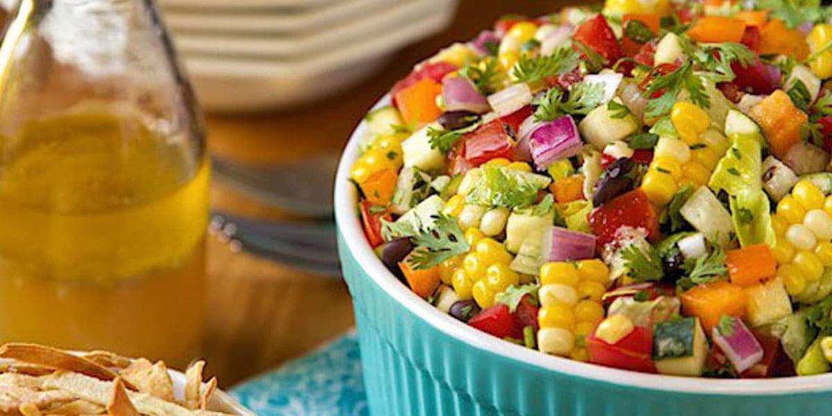 طرز تهیه سالاد مکزیکی با سبزیجات نگینی