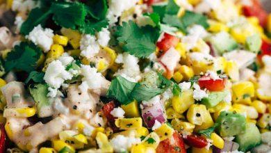 تصویر طرز تهیه سالاد مکزیکی با سبزیجات نگینی